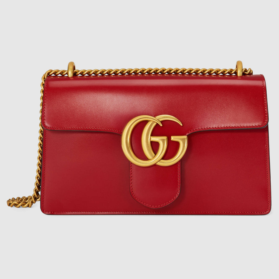 Gucci GG Marmont Leather Shoulder Bag - Luxury Next Season