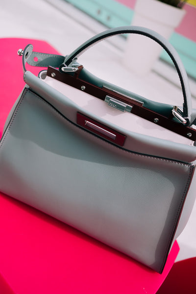 Fendi Bicolor Gray Medium Peekaboo Bag