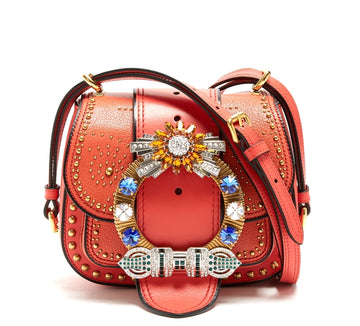 Miu Miu Coral Dalia Embellished Bag - Luxury Next Season