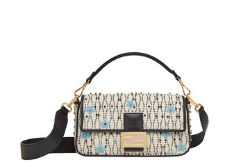 Fendi Baguette White Raffia Bag