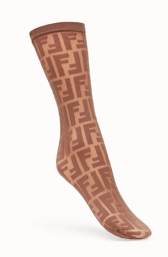Fendi FF Zucca Socks - Luxury Next Season