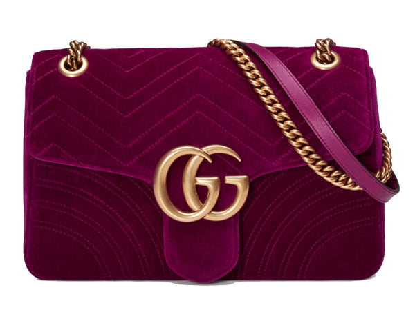 Gucci fuschia marmont Bag, Gucci Velvet Bag, luxurynextseason