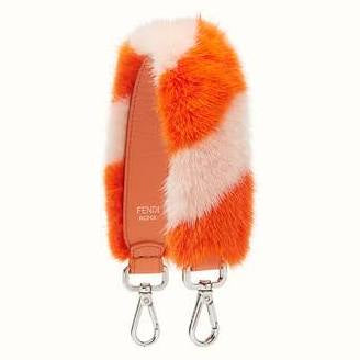 Fendi Mini Orange Pink Fur Strap - Luxury Next Season