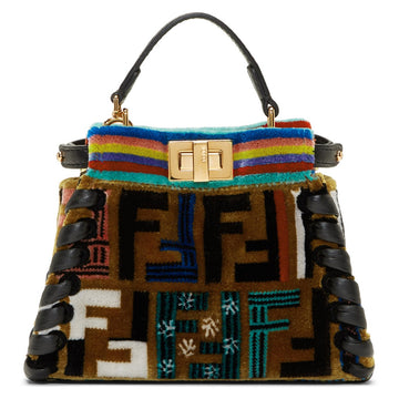 Fendi FF Velvet Whipstitch Micro Peekaboo Bag - Luxury Next Season