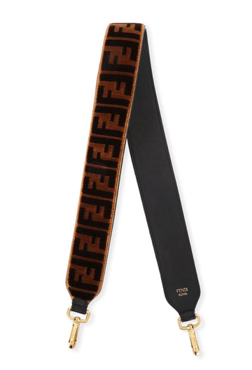 Fendi Zucca Pattern Velvet Straps - Luxury Next Season