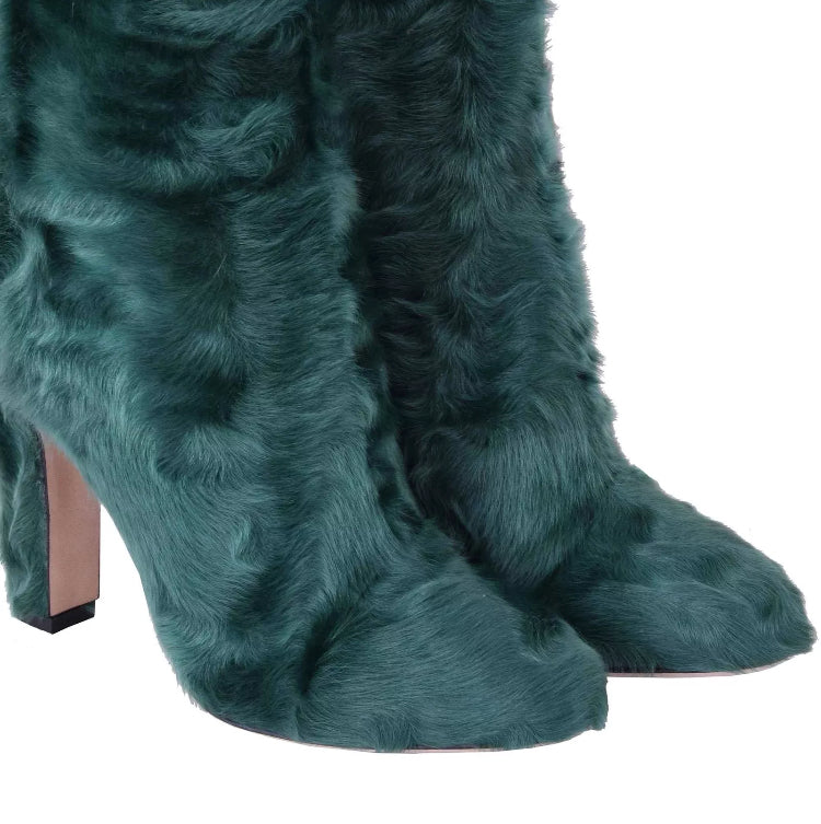 Dolce Gabbana Fur Karakul Vally Boots - Luxury Next Season