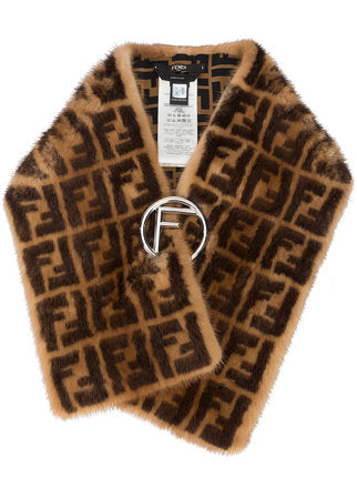 Fendi Zucca Mink Fur Collar - Luxury Next Season