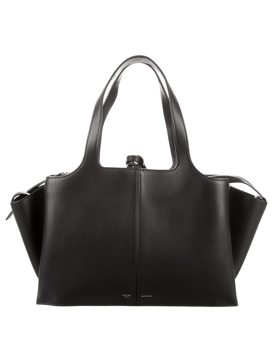 Celine Trifold Medium Black Bag - Luxury Next Season