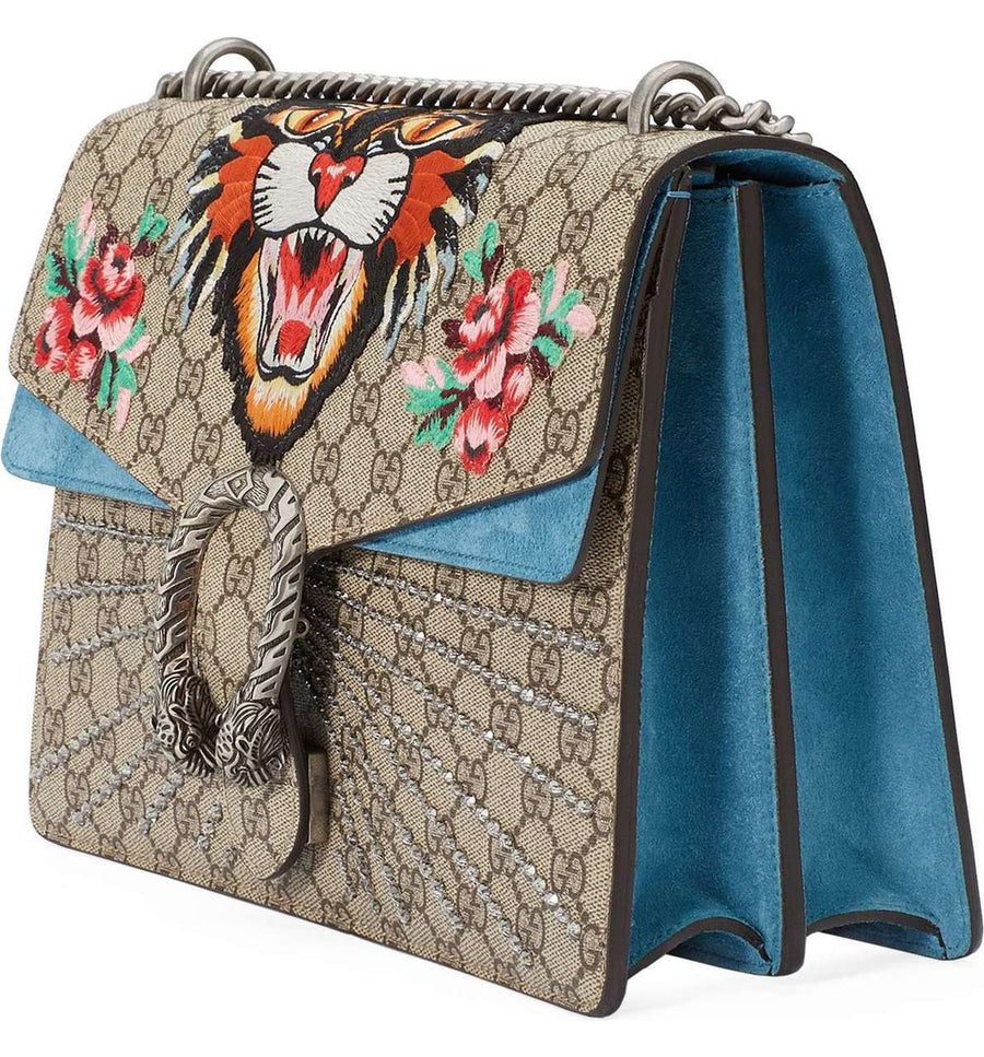 Gucci GG Dionysus Embroidered Medium Bag - Luxury Next Season