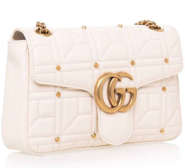 Gucci Marmont studded white bag, Gucci Marmont, Marmont studded, Gucci, luxurynextseason