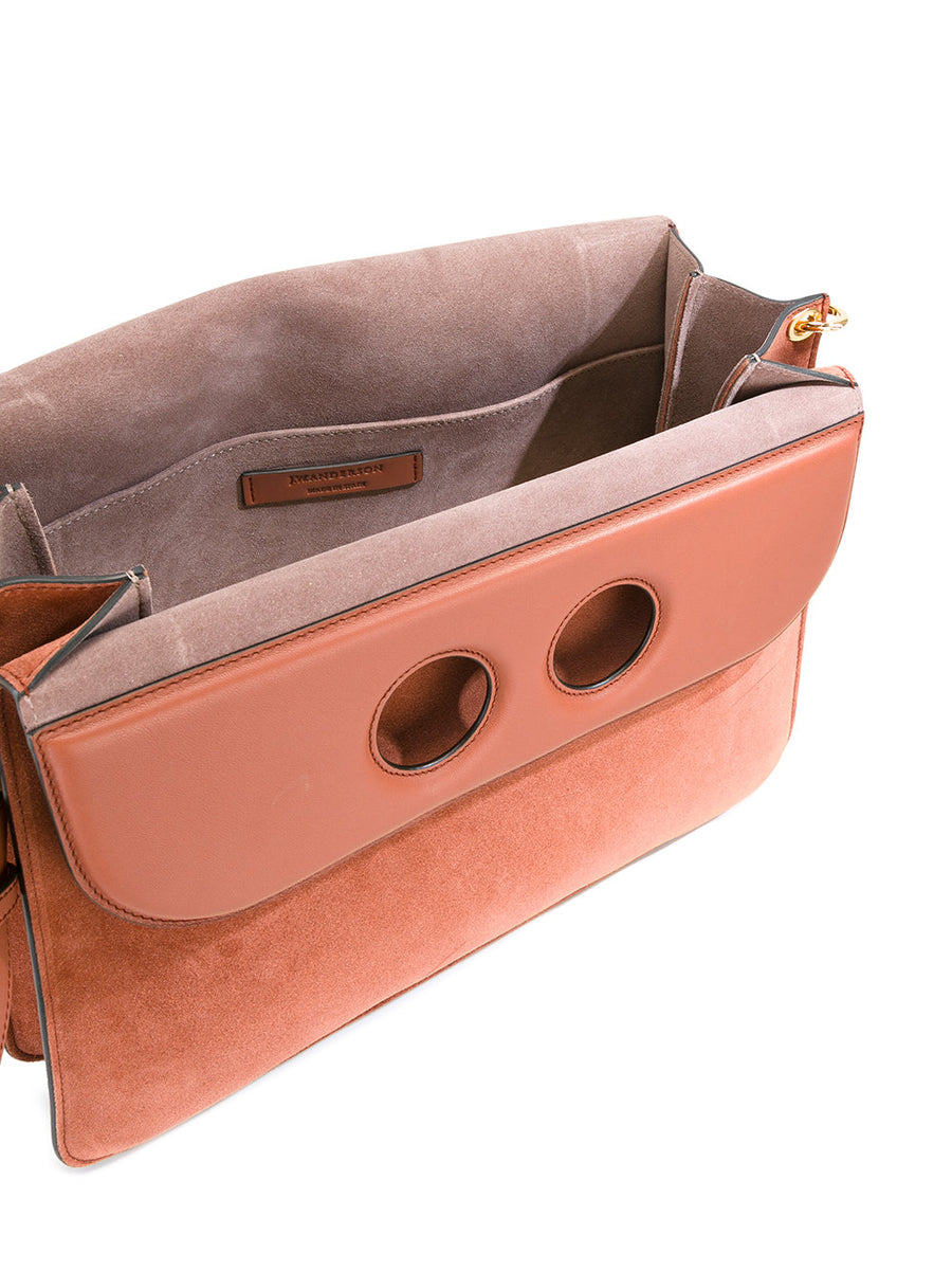 JW Anderson Pierce Large Leather and Suede Bag - Luxury Next Season