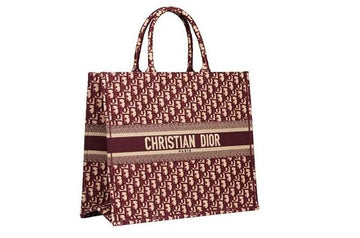 Dior Book Tote - Oblique Burgundy - Luxury Next Season