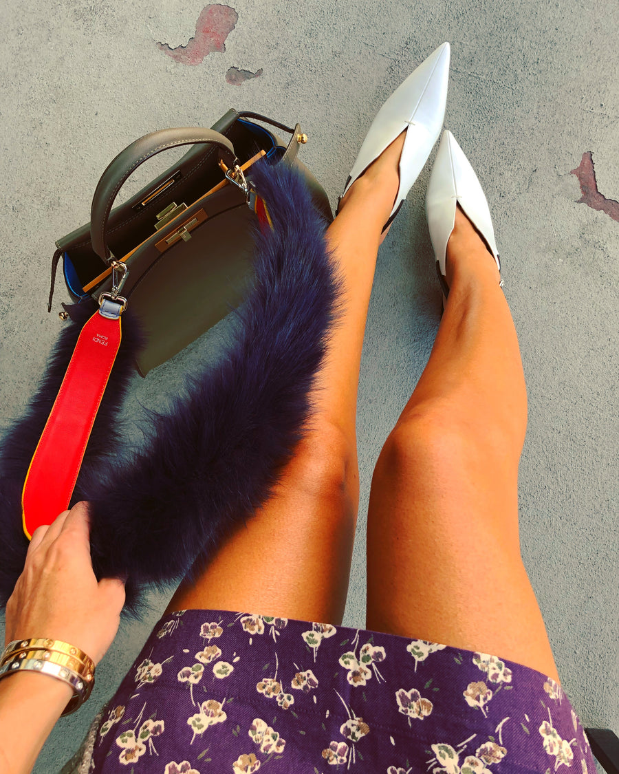 Fendi Navy Fur Strap - Luxury Next Season