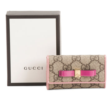 Gucci GG Canvas Monogram Pink Keychain - Luxury Next Season