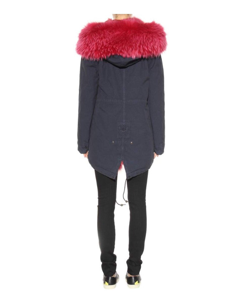 Mr and Mrs Italy Parka Coyote Hot Pink Midi Parka - Luxury Next Season