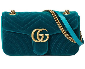 Gucci GG Marmont Mini Velvet Shoulder Bag - Luxury Next Season