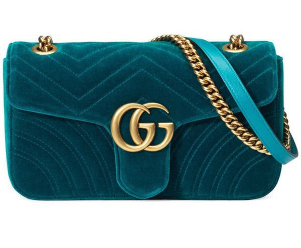 Gucci GG Marmont Mini Velvet Shoulder Bag