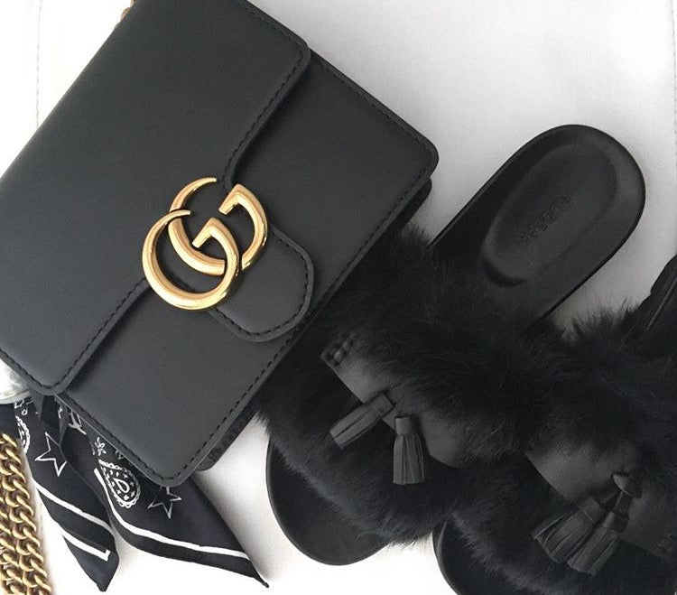 Gucci GG Marmont Black Mini Bag - Luxury Next Season