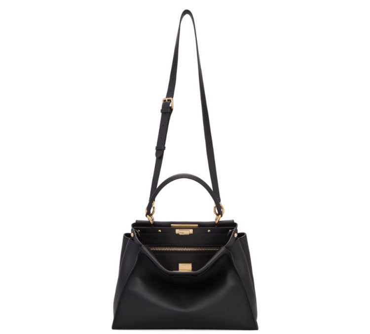 Fendi Peekaboo Medium in Black - Luxury Next Season