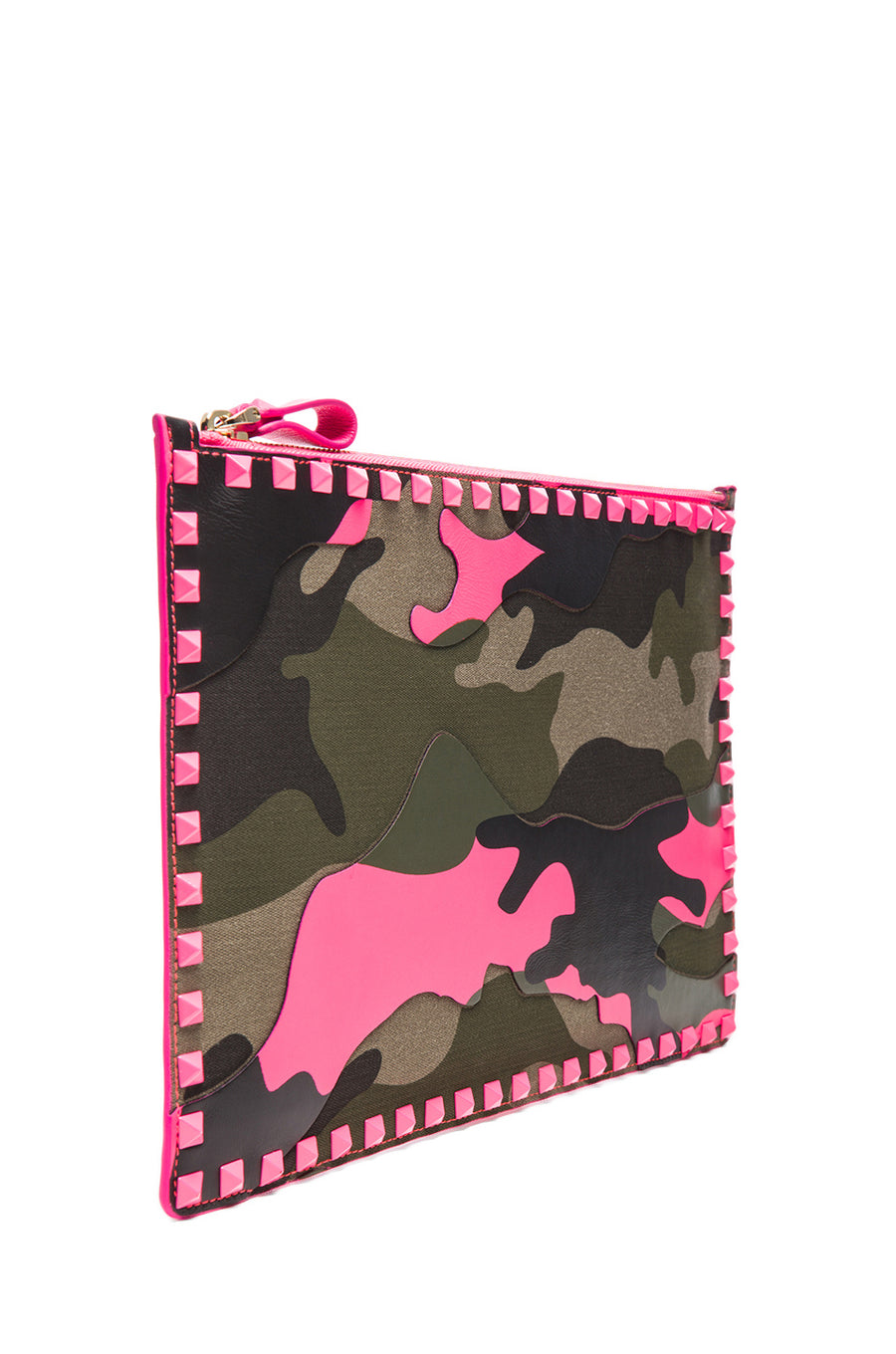 Valentino Camouflage Pink Clutch - Luxury Next Season