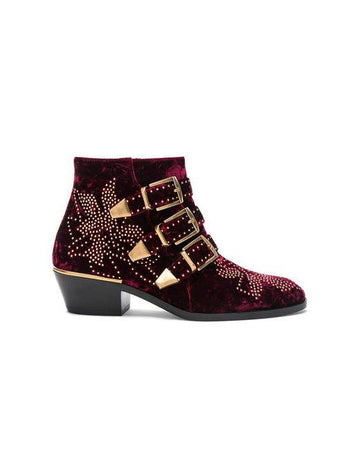 Chloe Susanna Velvet Boots - Luxury Next Season