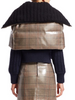 Fendi Plaid Puffer Caplet