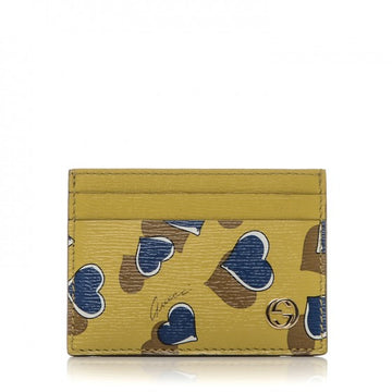 Gucci Heart Printed Interlocking GG Card Case - Luxury Next Season
