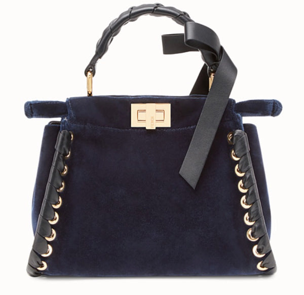 Fendi Mini Velvet Peekaboo Bag