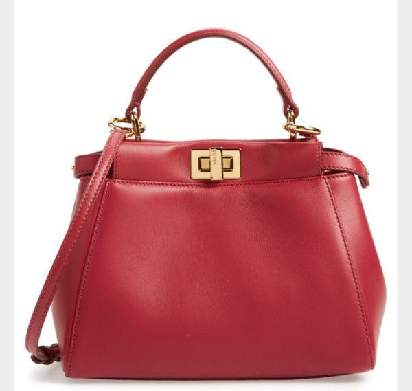 Fendi Mini Peekaboo Red Bag Luxury Next Season