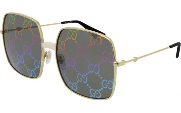 Gucci Rectangular Metal Sunglasses