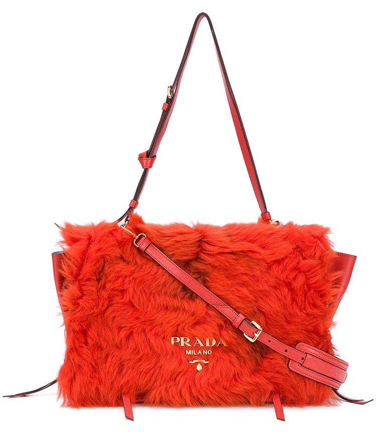 Prada Fur Pattina Shearling Bag - Luxury Next Season