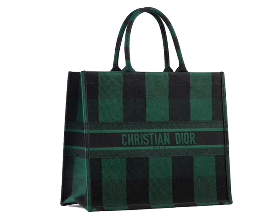 Dior Book Tote - Green Check