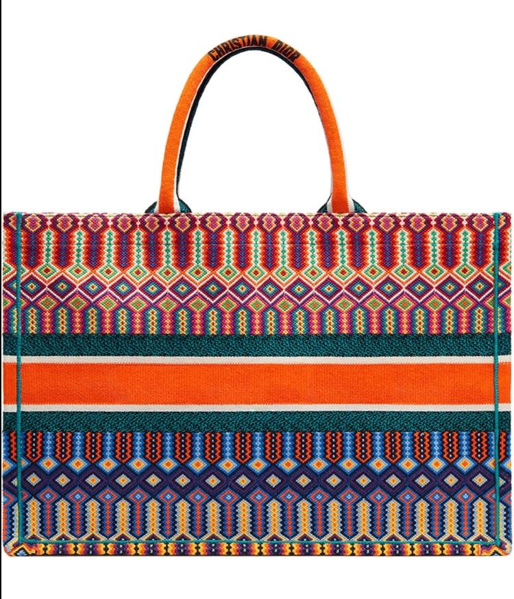 Dior Book Tote - Multicolored Orange - Luxury Next Season