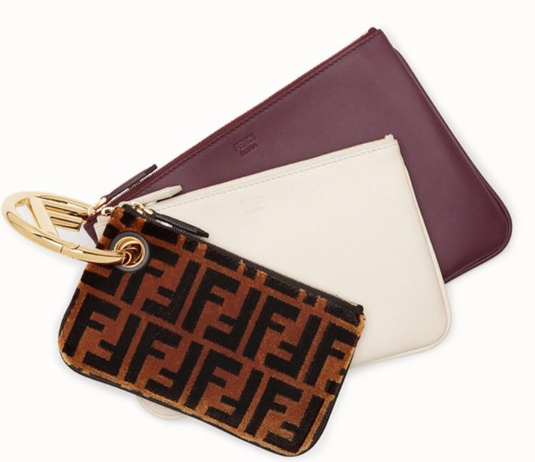 Fendi Triplette Zucca Pouch - Luxury Next Season