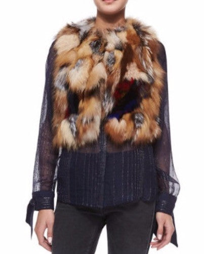 Crystal Fox Vest Luxury Next Season