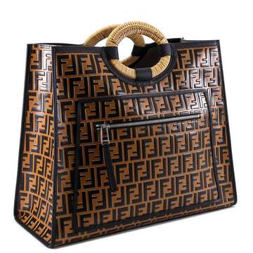 Fendi Runaway FF Embossed Century Shopper Tote - Luxury Next Season