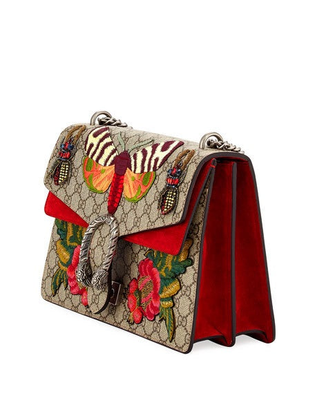 Gucci GG Dionysus Moth Butterfly Supreme Medium Bag - Luxury Next Season