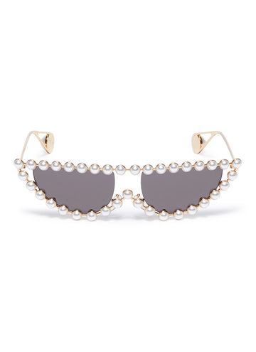Gucci Pearl Frame Cat Eye Sunglasses - Luxury Next Season