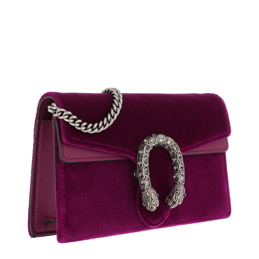 Gucci Dionysus Velvet Super Mini Bag - Luxury Next Season