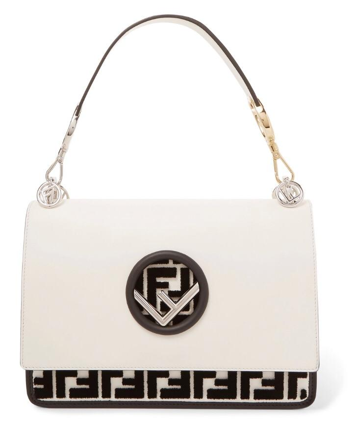 d3f39e8fb9 Fendi Flocked Black White Shoulder Bag | Luxury Fashion Clothing and ...