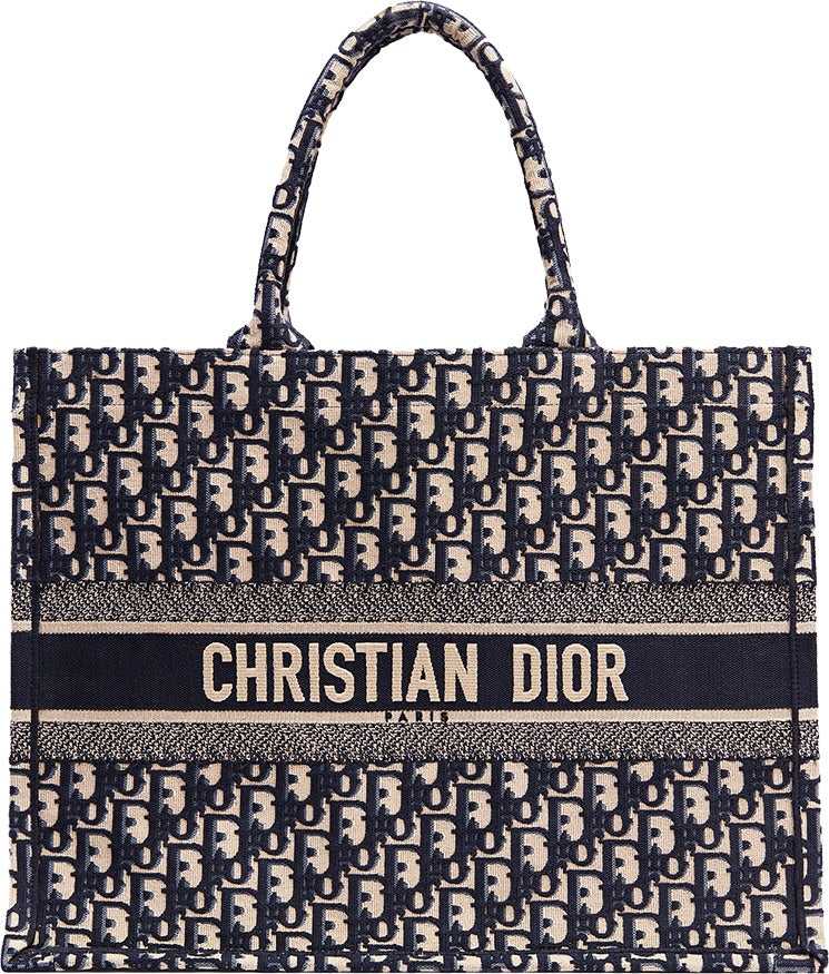 Dior Book Tote - Oblique Navy - Luxury Next Season