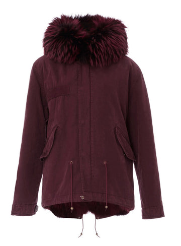 Mr and Mrs Italy Coyote Burgundy Mini Parka - Luxury Next Season