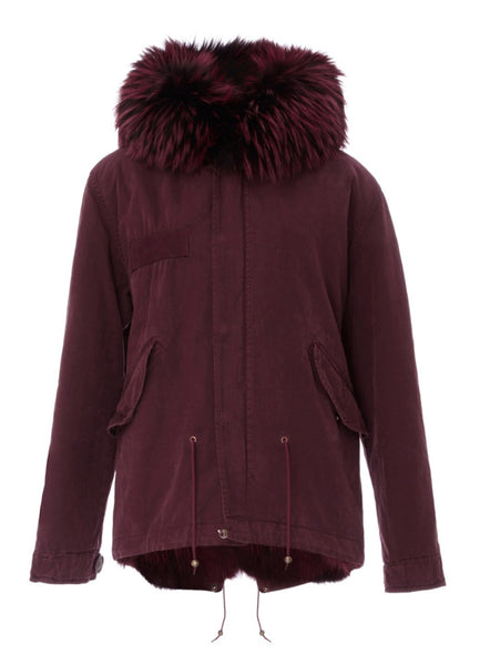 Mr and Mrs Italy Coyote Burgundy Mini Parka Luxury Next Season