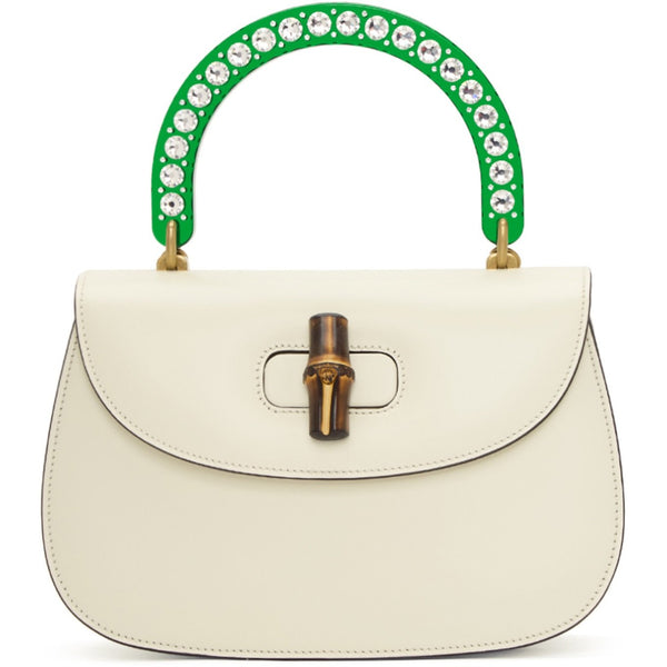 gucci white borda bag, luxurynextseason, gucci white bamboo bag
