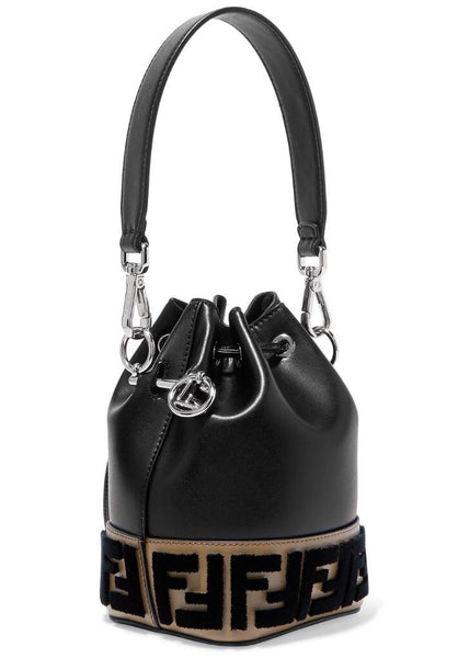 Fendi Mon Tresor Flocked Bucket Bag