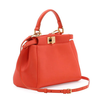 Fendi Mini Peekaboo Red Bag - Luxury Next Season