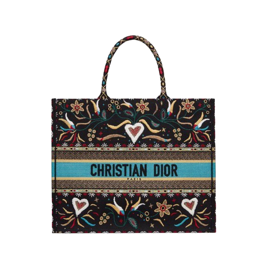 Dior Book Tote - Blue Black - Luxury Next Season