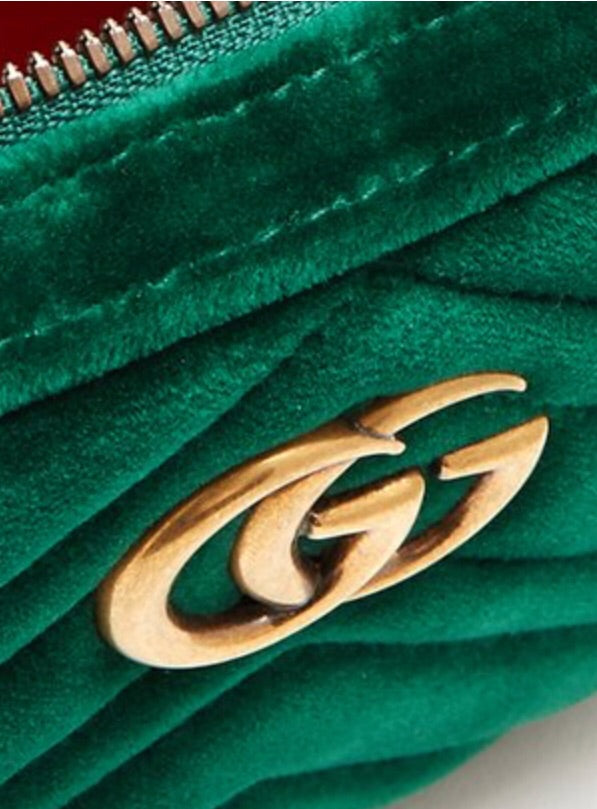 Gucci GG Marmont Matelasse Velvet Belt Bag - Luxury Next Season