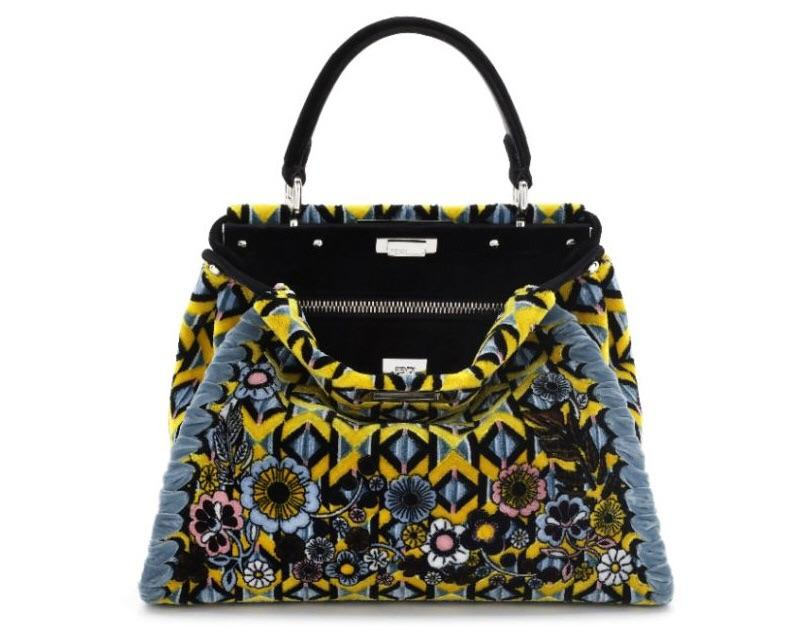 Fendi Velvet Peekaboo Medium Bag - Luxury Next Season
