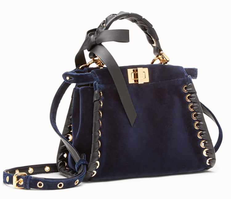Fendi Mini Velvet Peekaboo Bag - Luxury Next Season